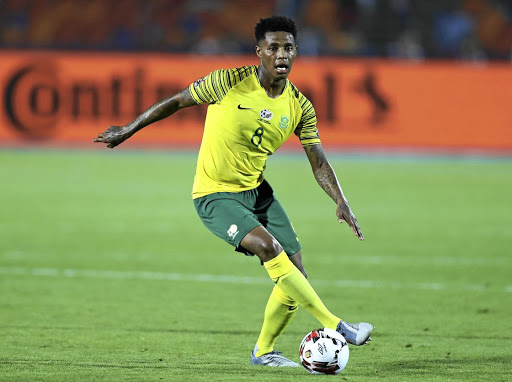 Bongani Zungu in the Bafana Nike kit.