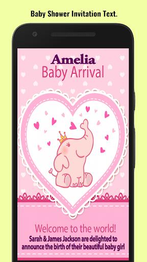 Baby Shower Invitation Maker screenshot 4