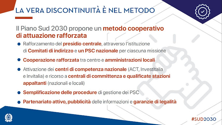 Piano per il Sud 2030