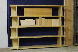 Photo: Long contemporary designed bookshelf unit for home or apartment, easy to put together, easy and light to move.