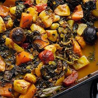 Iranian Vegetable Stew With Dried Lime