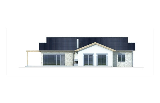 Agat wersja A dach 22 stopnie - Elewacja tylna