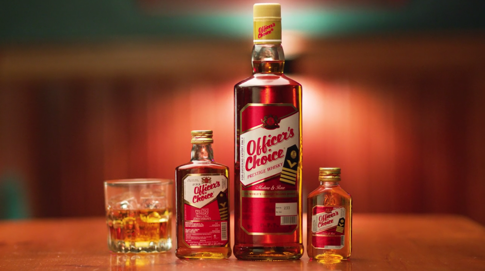 best-whisky-brands-india-Officers-Whiskey-Price-Rs. 290 for 750 ml.