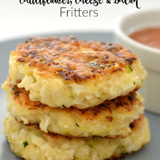 Cauliflower Cheese and Bacon Fritters.