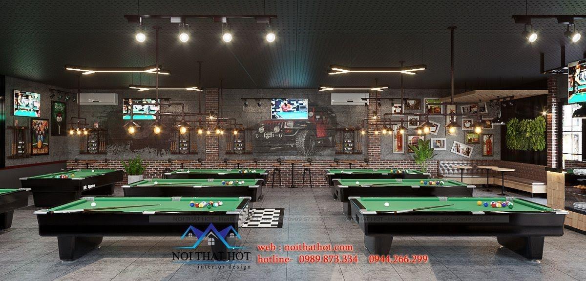 thiết kế quán billiards đẹp