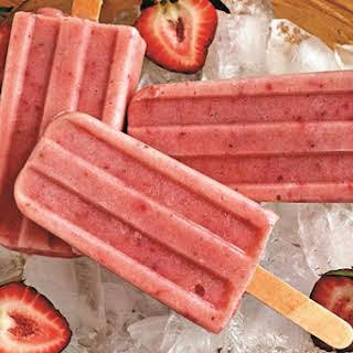 Dairy-Free Strawberry Smoothie Pops.