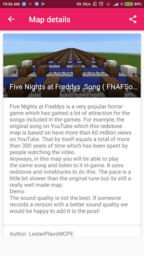 Creepy fnaf maps for MCPE for PC