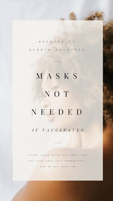 Masks Not Needed - Facebook Story template