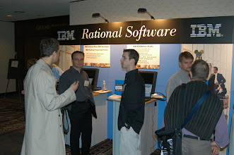 Photo: IBM booth in the exhibit area, EclipseCon 2004