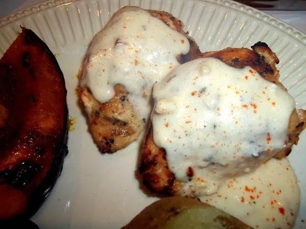 Brined & Grilled Chicken W/ Creamy Garlic Sauce