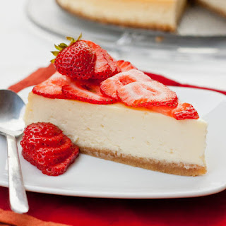 New York Cheesecake with Strawberry and Nutella Topping.