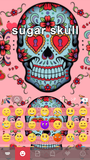 Sugar Skull Keyboard Theme