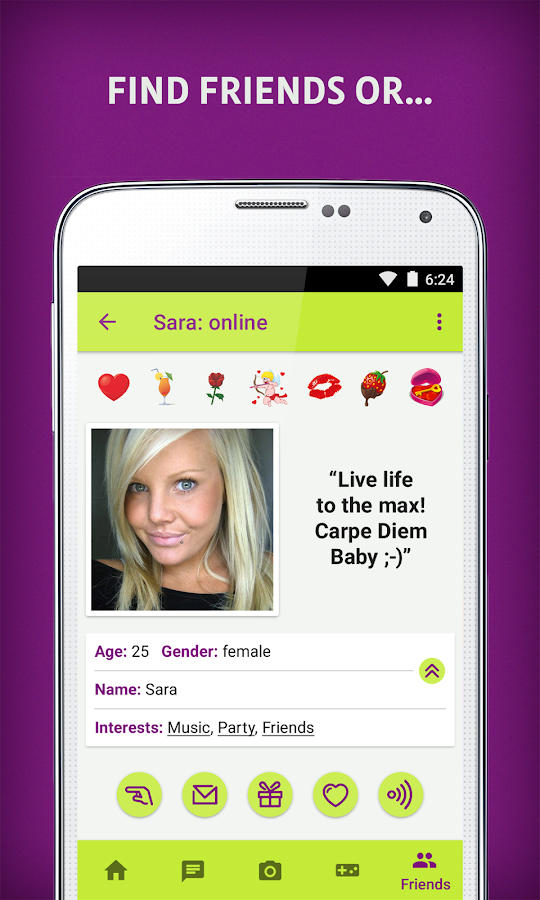 Clover dating app ad girl