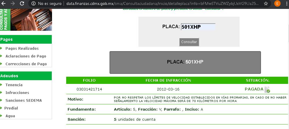 pagar multas cdmx en línea paso 1