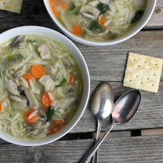 Chicken Orzo Soup.