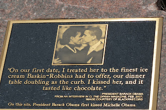 Photo: Site of Barack and Michelle's first kiss