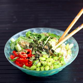 Sushi Bowl with Toasted Sesame Miso Dressing Recipe