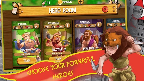 Gods of Myth TD: King Hercules Son of Zeus Screenshot