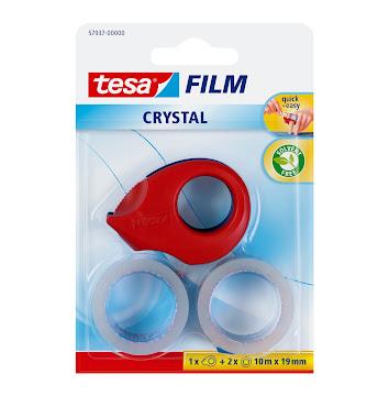 Cinta Adhesiva Tesa   Transparente + Dispensador X2Und