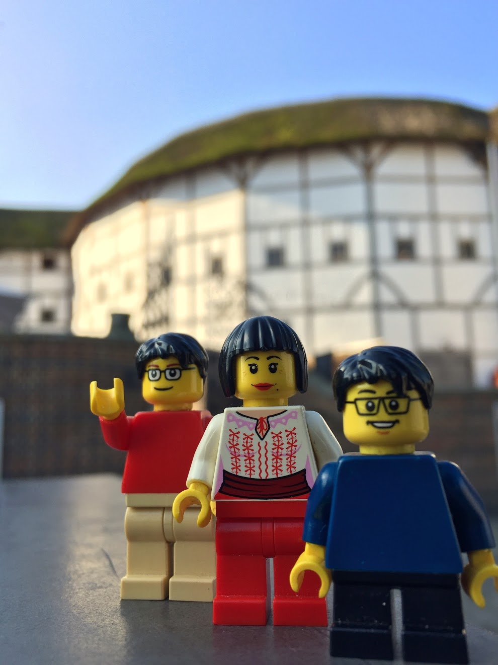 Lego family visits Shakespeare's Globe.