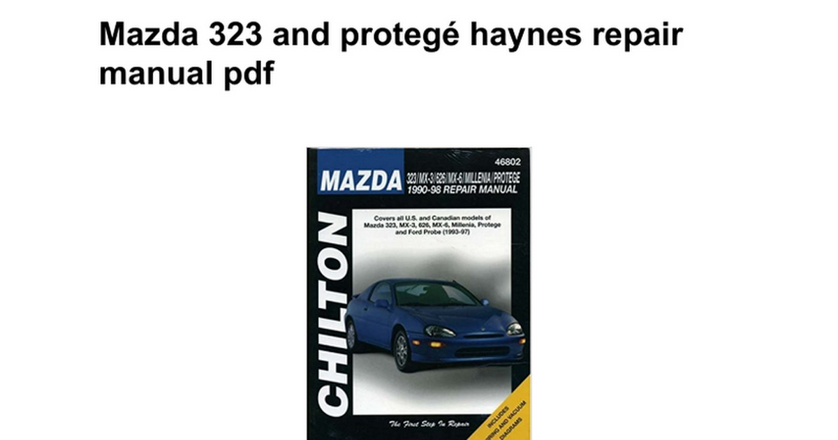 Mazda 323 and proteg haynes repair manual pdf google docs fandeluxe Choice Image