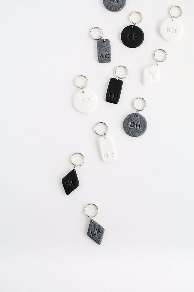 monogrammed clay key chains, a craft that makes money