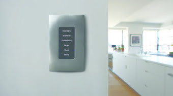Smarthome Switch on white wall