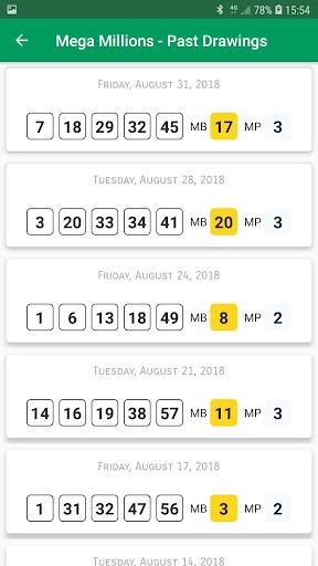 Pennsylvania Lottery Results 1.0 screenshots 8