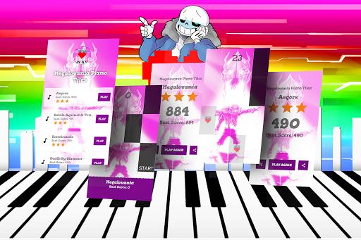 Megalovania Piano Tiles Game android2mod screenshots 1