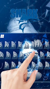 Keyboard - Shark Scary Cool Free Emoji Theme - náhled