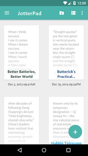 JotterPad : テキストエディタ