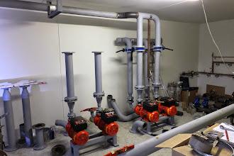 Photo: Local pompes climatisation #datacenter #reims (Visite de chantier 09.10.2014)