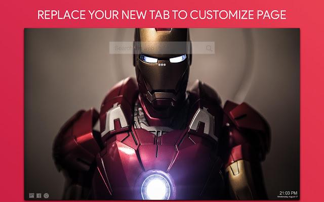 Iron Man Wallpaper HD Custom New Tab