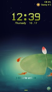 Lotus Pond Locker theme screenshot 0