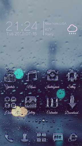 Drips Go Launcher Theme