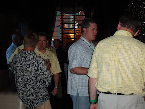 Photo: Chris Hurn networking at Mercantile Capital Corporation's 504 Day Happy Hour at the NADCO Annual Meeting.  Contact us at www.504Experts.com