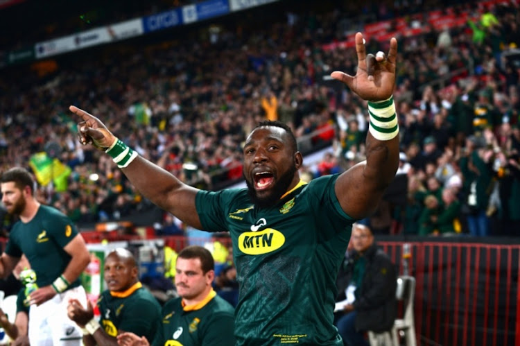 Tendai Mtawarira for the the Springboks during the 2018 Castle Lager Incoming Series match between South Africa and England at Emirates Airline Park on June 09, 2018 in Johannesburg, South Africa.