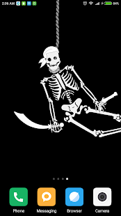 Cheerful Skeleton Live Wallpaper Screenshot