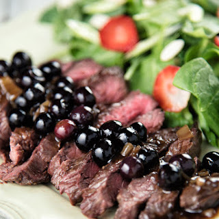 Flank Steak with Blueberry Sauce Recipe