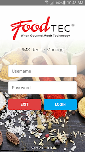 FoodTec RMS Recipe Manager - náhled