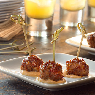 Barbecued Mini Meatballs.