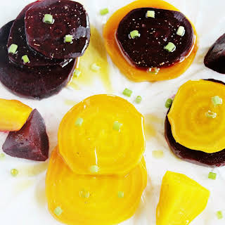 Roasted Red & Golden Beets with Fennel Oil.