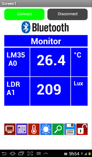 Monitor LM35 LDR Prog Switches