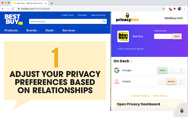 Privacy Bee — Privacy Manager Extension