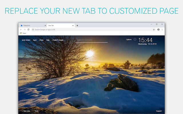 Winter & Snow Wallpapers HD New Tab Themes
