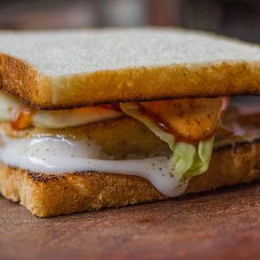 Sandwich by Nitesh Badave - Food & Drink Plated Food ( sandwich, food, 50mm, mayo, cheese )