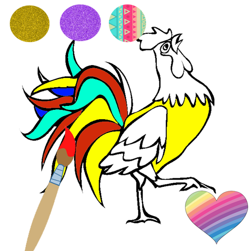 Glitter Bird Coloring Book Game For Kids Toddlers Google Play De