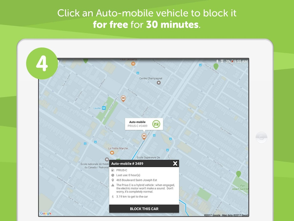 Communauto- screenshot