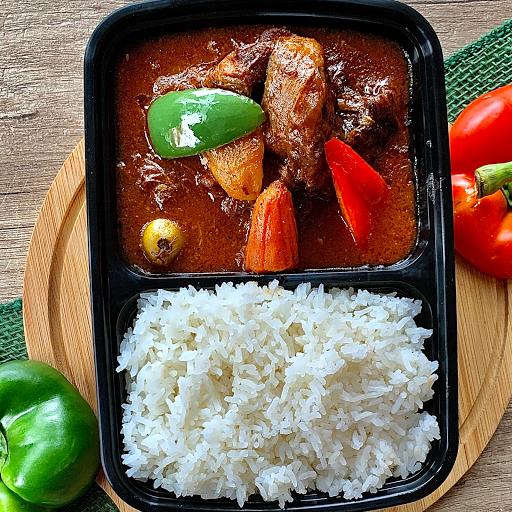 Beef Kaldereta Rice Combo