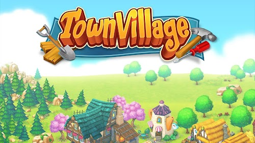 Screenshot 1 Town Village: Farm, Build, Trade, Harvest City 1.8.10 APK MOD